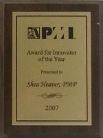 South Florida PMI Innovator or the Year 2007